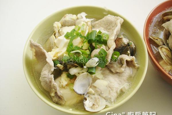 肉片蛤蜊味噌汤的做法