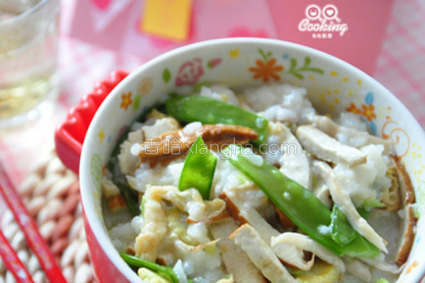 鲜蔬燕麦粥的做法