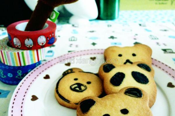 熊熊造型饼干的做法