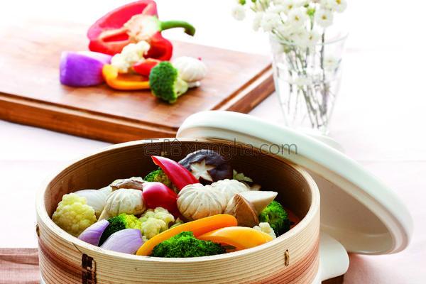 清蒸多色鲜蔬的做法