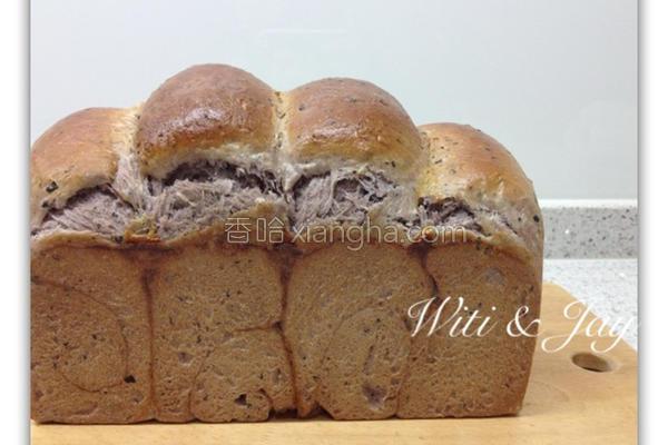 紫米红豆山峰土司的做法