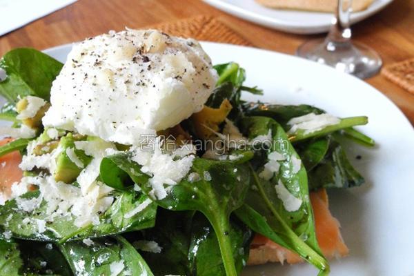波菜蒸鸡蛋沙拉的做法
