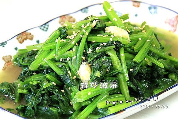 蒜炒菠菜的做法