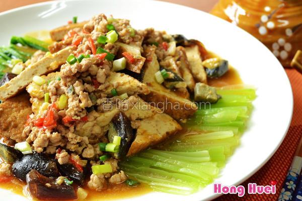 椒麻肉末烧油豆腐的做法