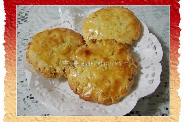 花生酱燕麦饼干的做法