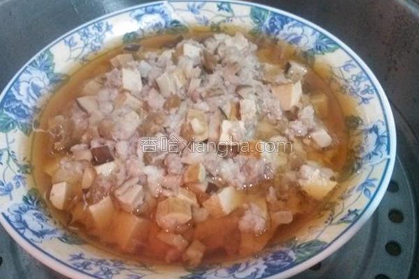 香菇脆瓜蒸肉的做法