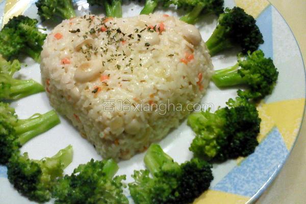 奶菇饭的做法