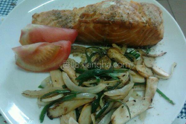 普罗旺斯煎鲑鱼排的做法
