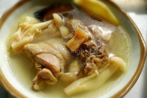干贝菇菇鸡汤的做法
