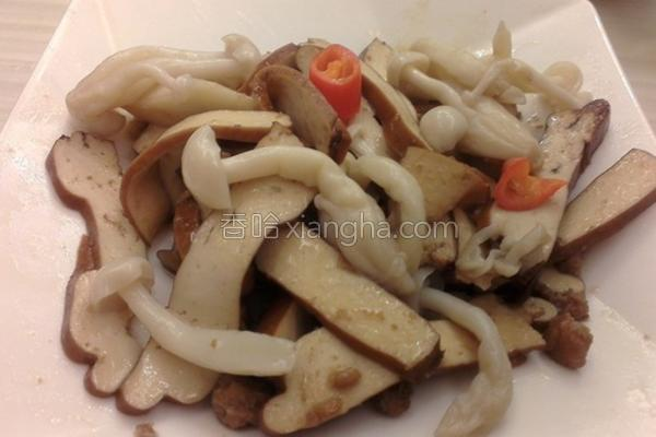 雪菇豆干炒肉末的做法
