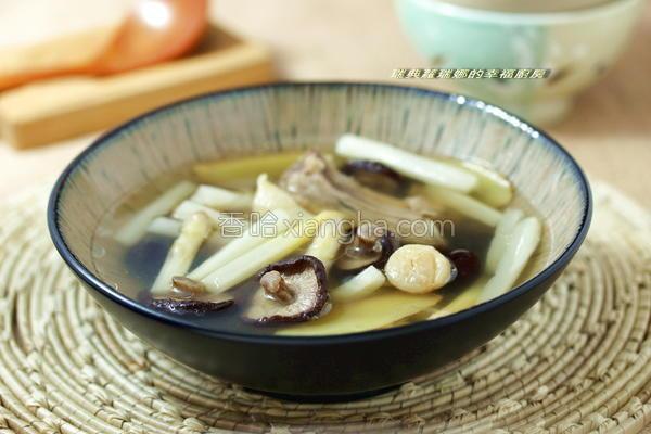 芦笋排骨干贝汤的做法