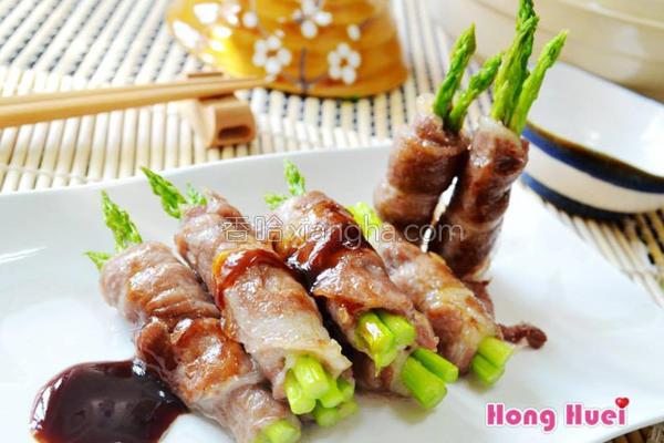 酱烤芦笋猪肉卷的做法