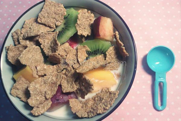 奇异果谷麦早餐的做法