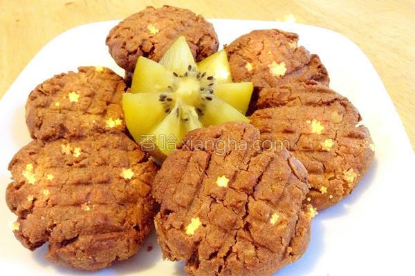 全麦片花生酱饼干的做法