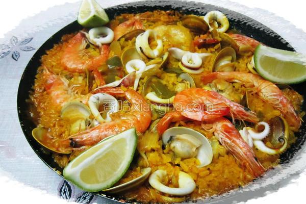 西班牙海鲜鸡肉饭的做法