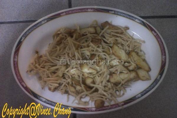 笋丝豆干的做法