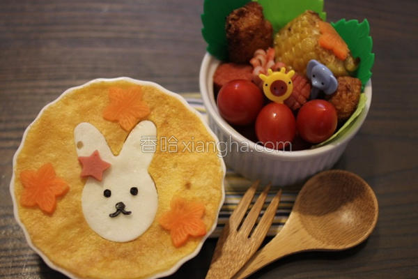 小白兔高丽菜炒饭的做法