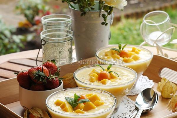 芒果椰汁西米露的做法