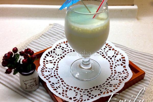 绿豆沙牛奶的做法