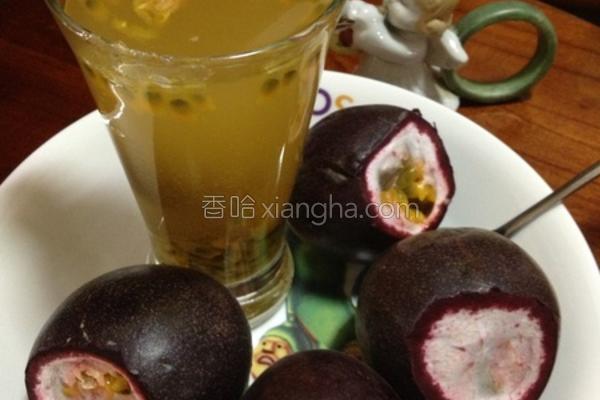 百香梅果汁的做法