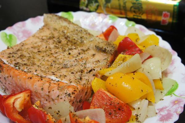 烤时蔬鲑鱼的做法