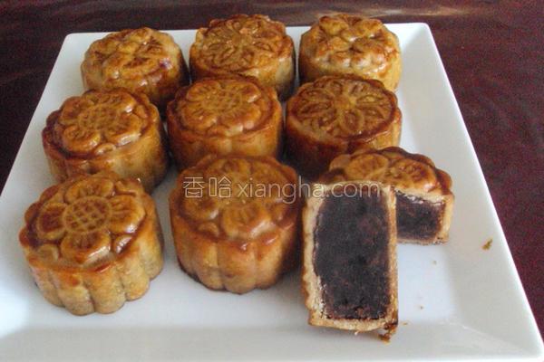 广式豆沙小月饼的做法