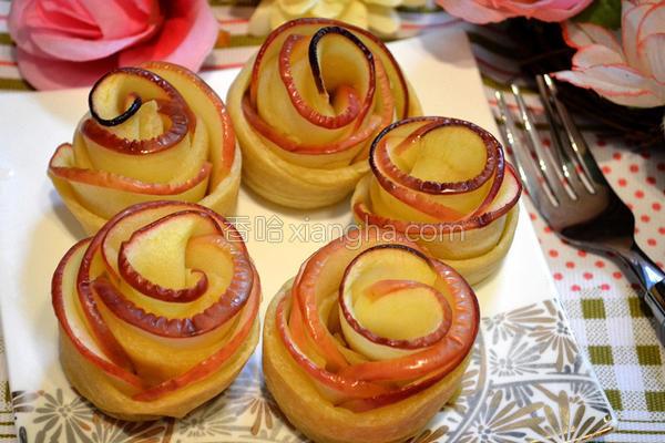 苹果玫瑰花饼卷的做法
