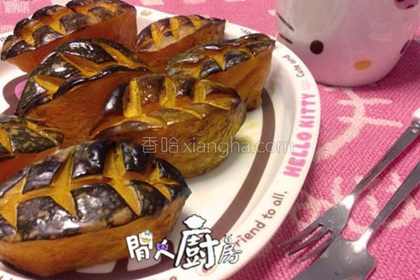 焗寿司型南瓜的做法