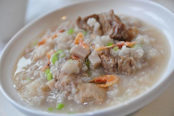 樱花虾香芋排骨粥的做法