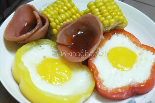 蔬果蒸蛋营养早餐的做法