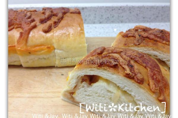 洋葱起司培根面包的做法