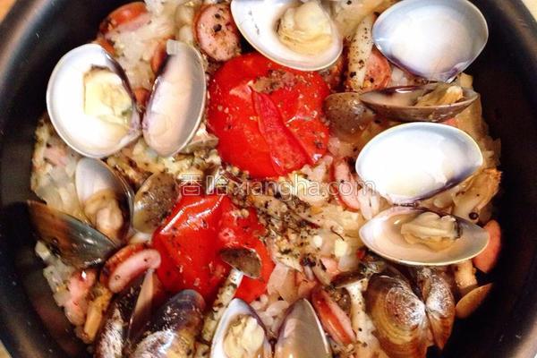 洋风蛤蛎番茄饭的做法