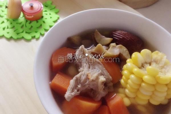 栗子玉米萝卜汤的做法