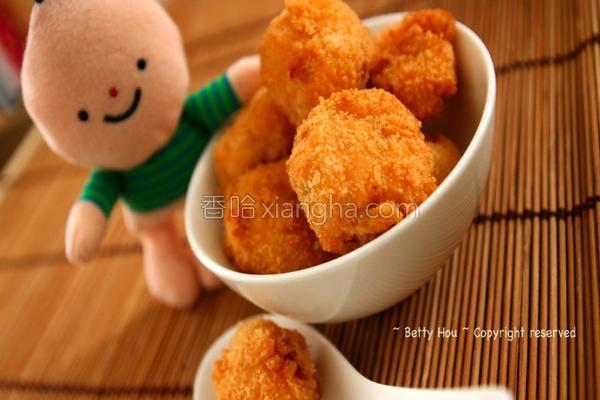 马铃薯炸鲑鱼丸子的做法