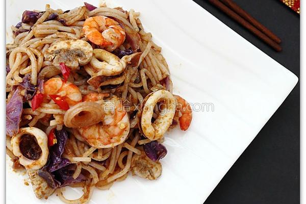 海鲜叻沙炒米线的做法