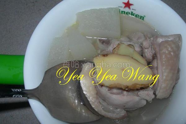 冬瓜鸡腿汤的做法