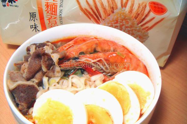 泰式酸辣鲜虾汤面的做法
