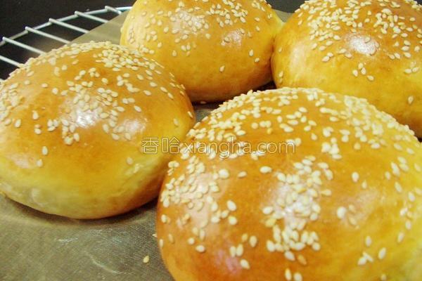 汉堡面包的做法