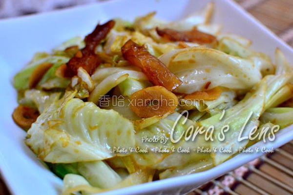 酱凤梨炒高丽菜的做法