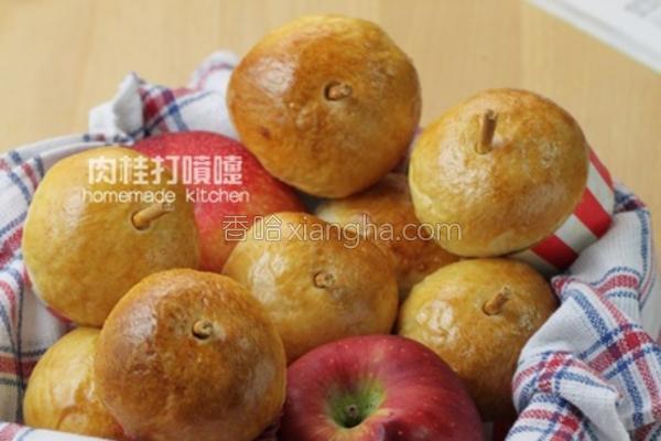 迷你苹果造型面包的做法