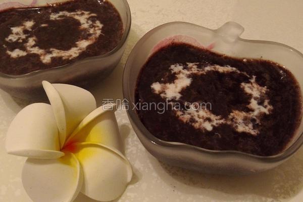 椰汁紫米红豆的做法
