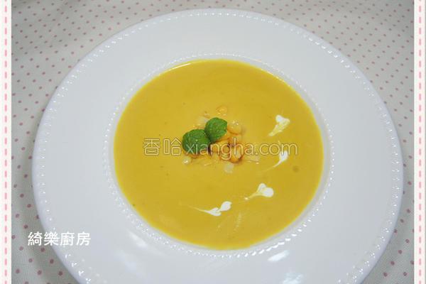 玉米蘑菇南瓜浓汤的做法