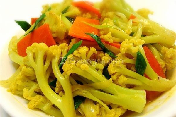 咖哩花椰菜的做法