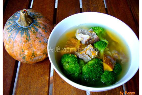 金瓜排骨汤的做法