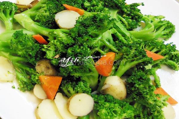 马铃薯汁熘青花的做法