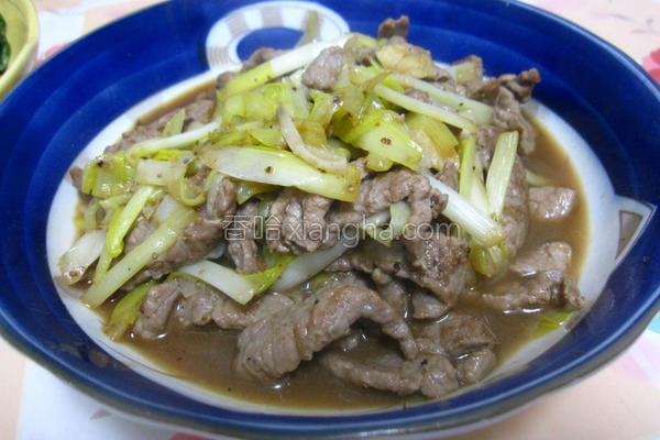 韭黄牛肉的做法