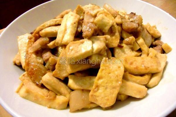 扁豆干炒五花肉的做法