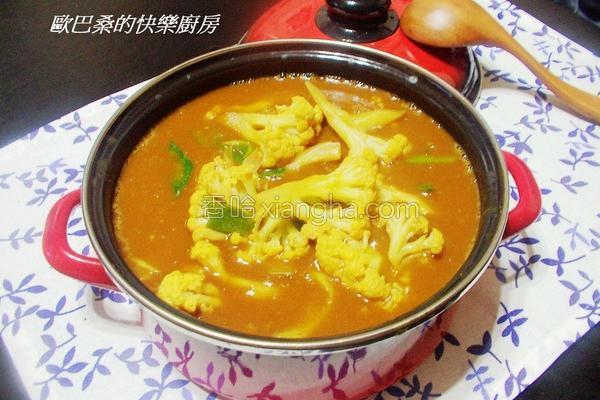 咖哩白花椰菜的做法