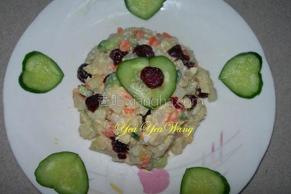 蔓越莓双蛋沙拉的做法