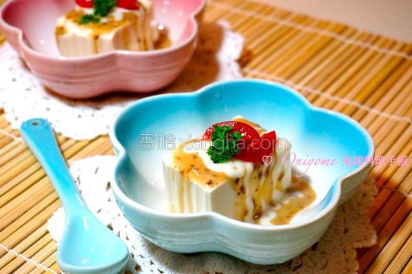 冻豆腐伴芝麻酱的做法